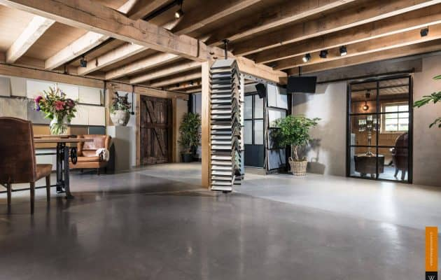 betonvloer showroom