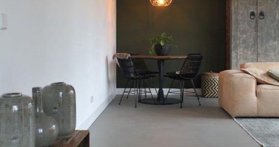 Betonlook vloer, pu gietvloer, Beton Design