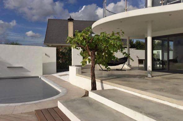 Gevlinderd betonnen terras