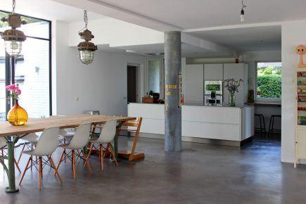 Gevlinderde woonbeton vloer in Boxmeer