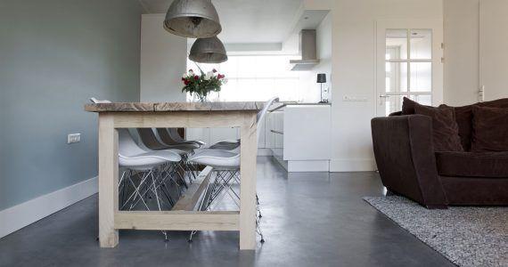 Willem Designvloeren woonkamer betonlook wanden, beton cire muren Wijchen