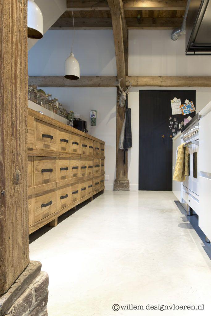 Gevlinderde woonbetonvloer