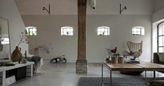 Gevlinderde betonvloer, betonvloer gevlinderd