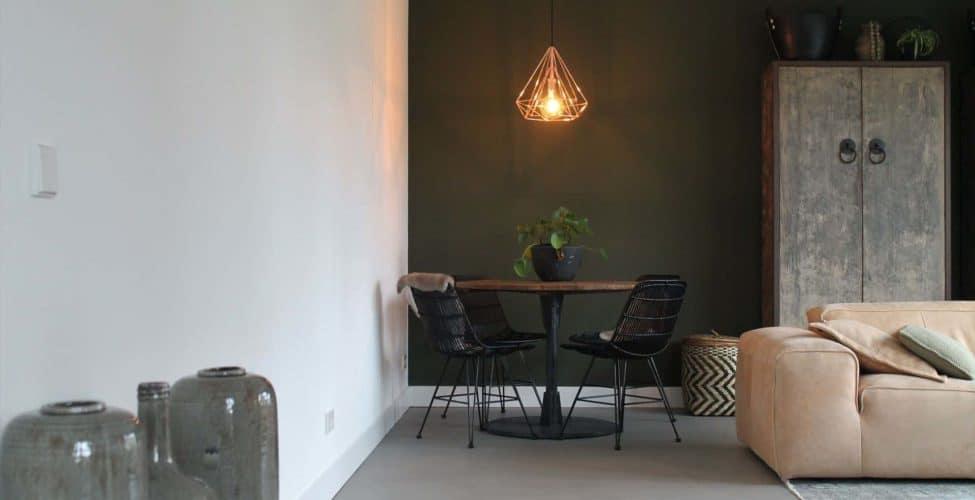beton cire over tegels, beton cire, Betonlook vloeren in de woonkamer