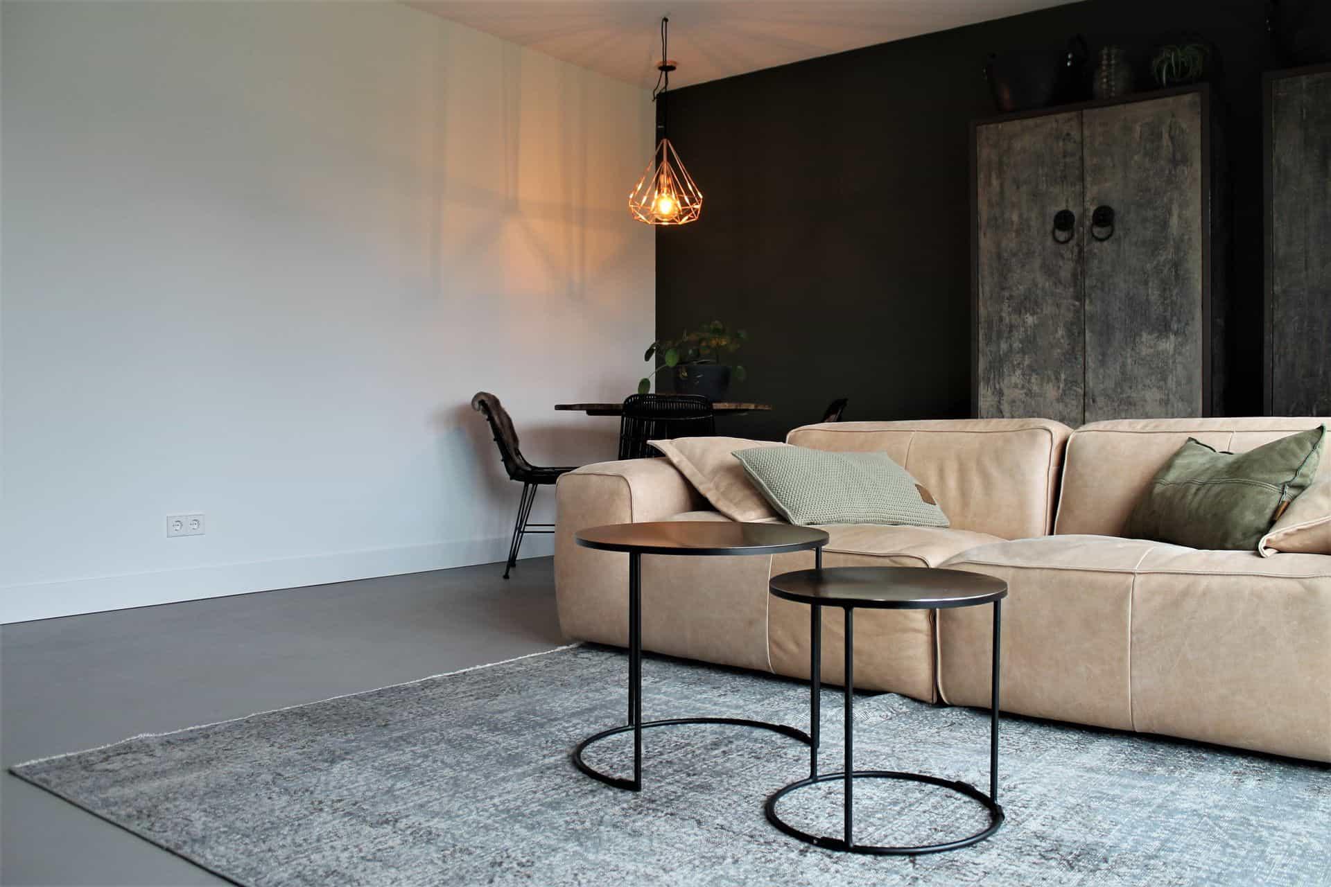 beton ciré in woonkamer