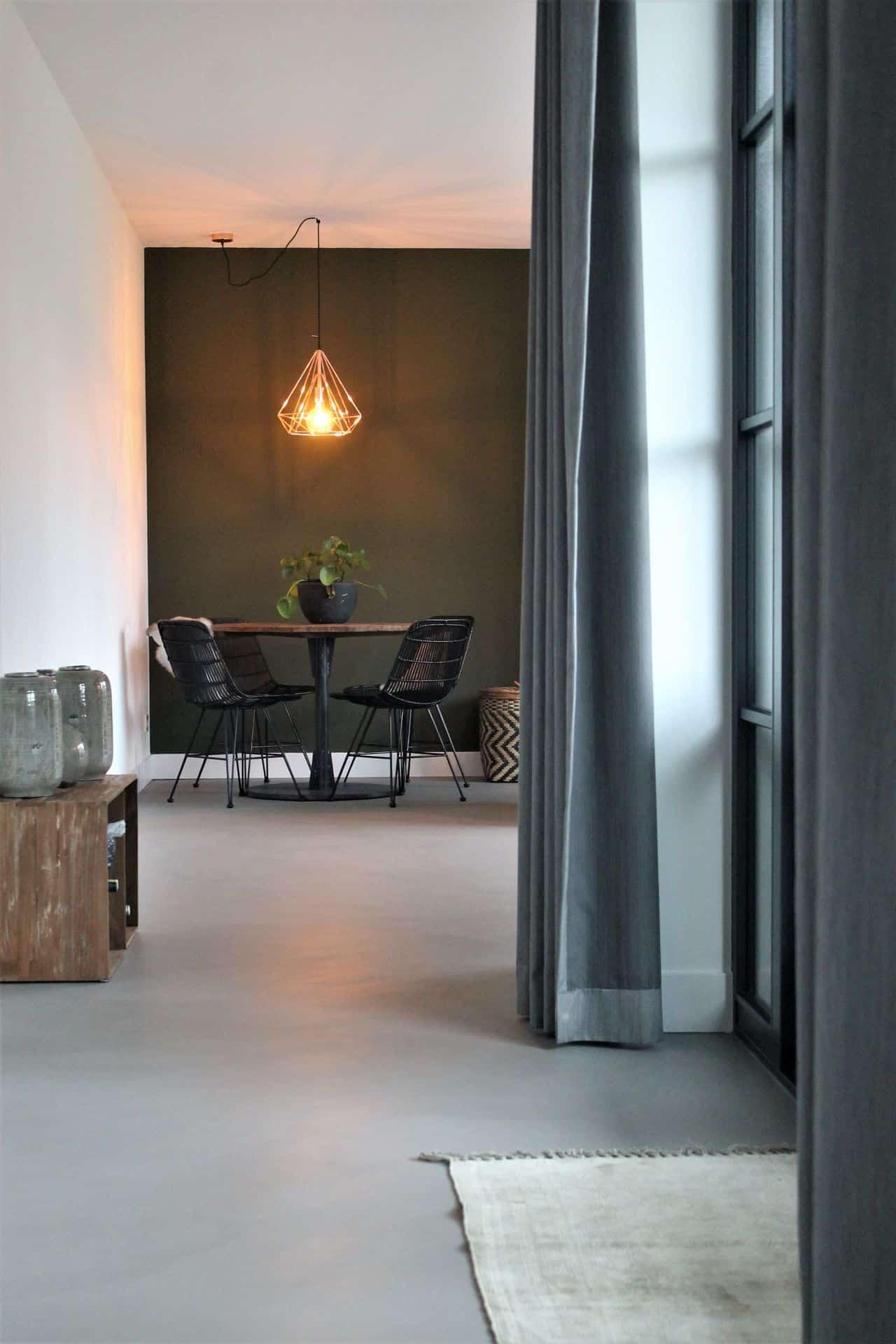 beton ciré prijzen, beton ciré vloer in huis