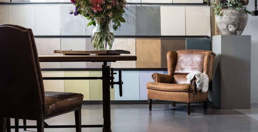 Kleuren beton cire showroom Willem Design Vloeren