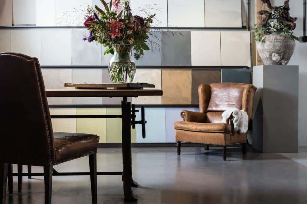 showroom betonlook, betonlook wanden