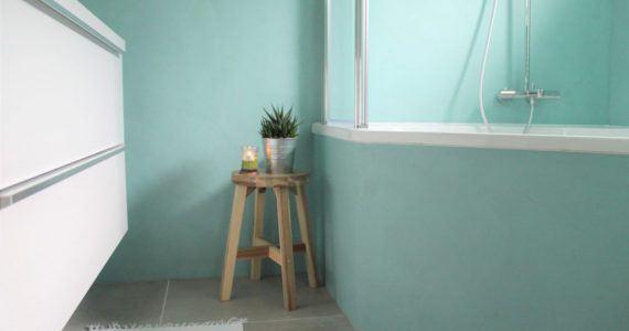 Betonlook wand, betonlook muur