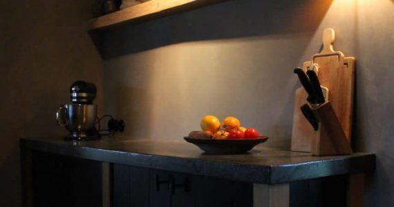 beton ciré wanden keuken