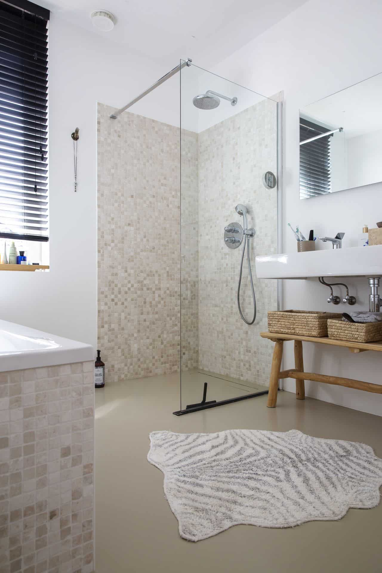 gietvloer badkamer, pu vloer badkamer, badkamer gietvloer