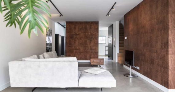 betonnen vloeren, gevlinderde betonnen vloer, gevlinderde betonnen vloer woonkamer