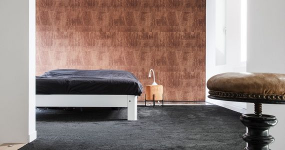 gevlinderde vloer, gevlinderd beton met vloerbedekking