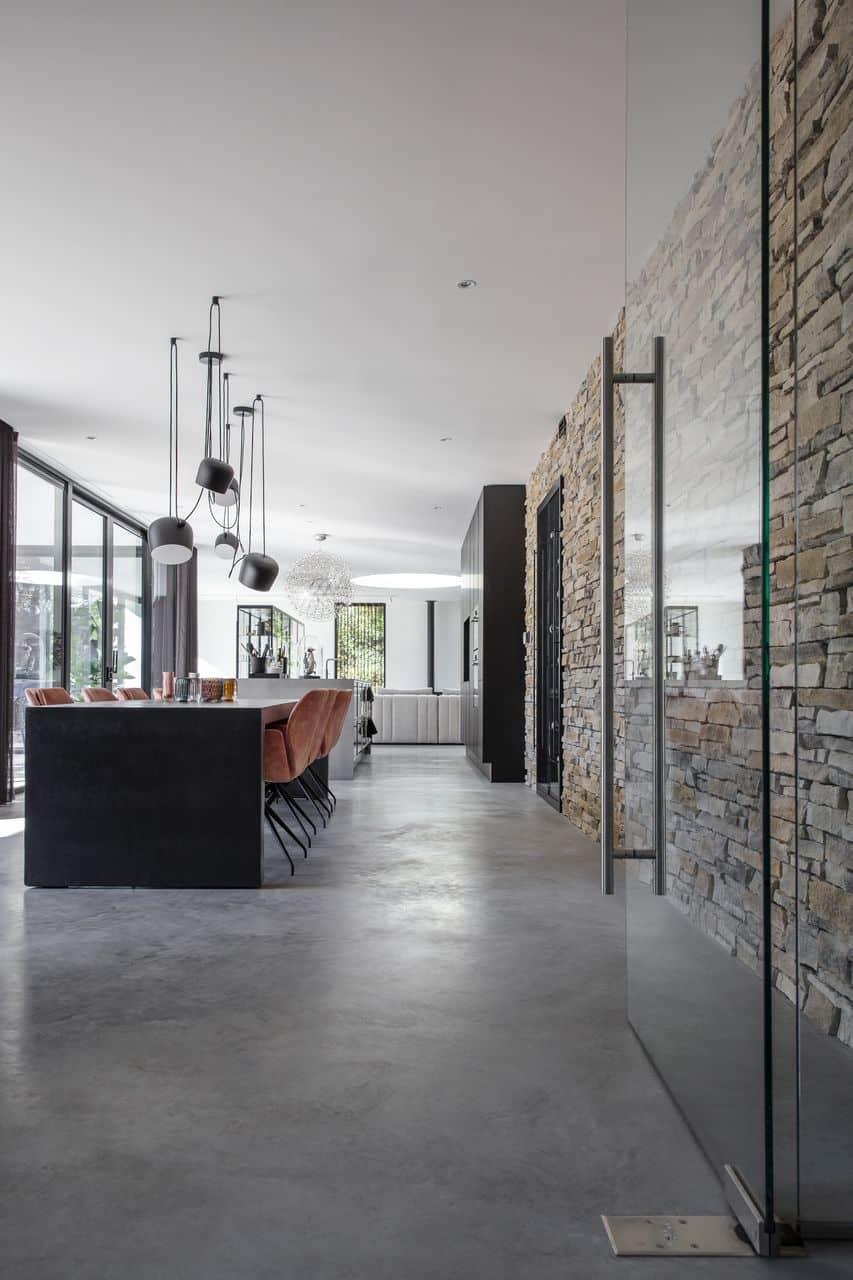 woonbeton, betonvloer, gepolierde beton, monolitisch afgewerkte betonvloer