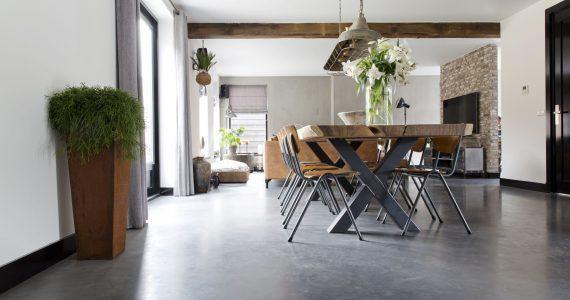design betonvloer, betonvloer in de woning