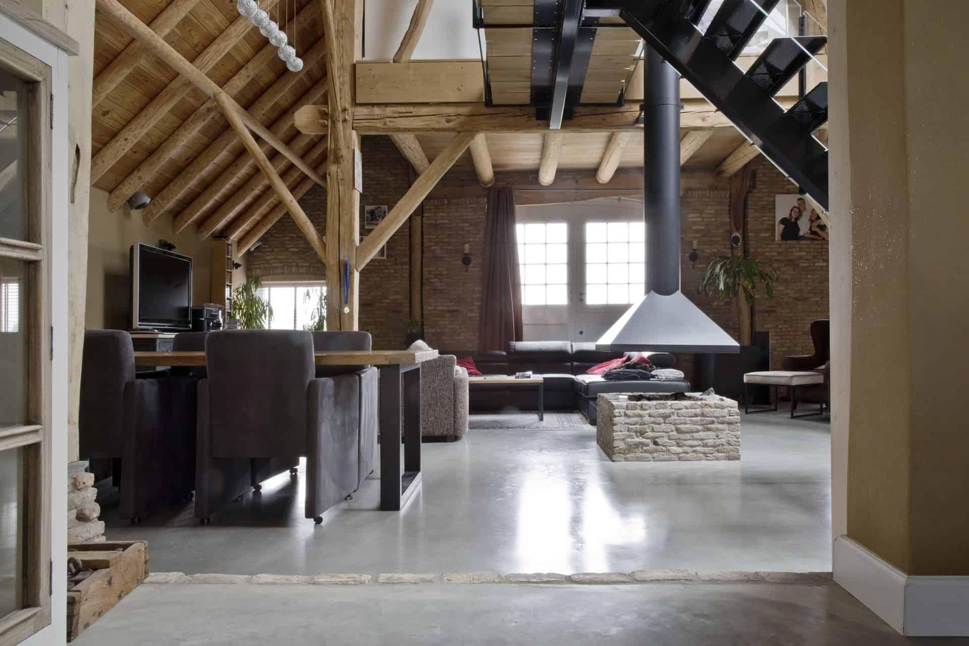 Gevlinderd beton, woonbeton, betonnen vloer