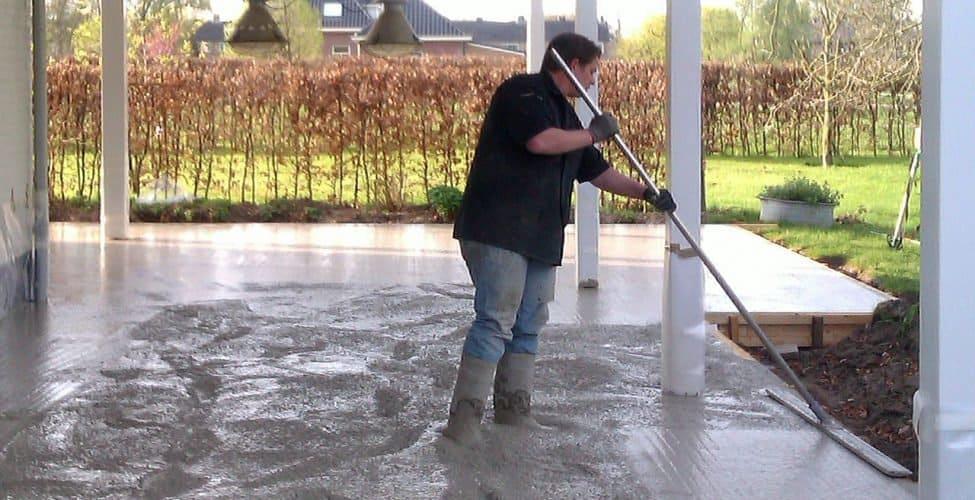 betonvloer storten buiten, buiten betonvloer storten