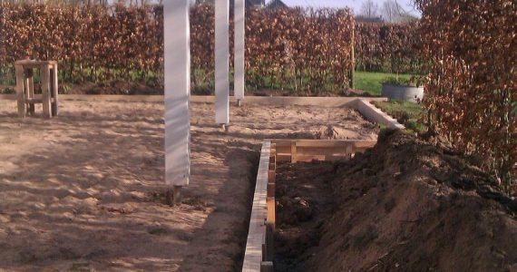 betonnen terras aanleggen, stap voor stap betonnen terras