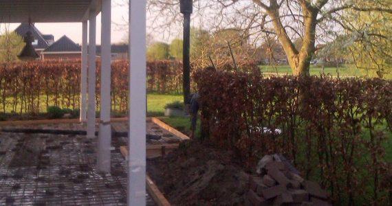 betonnen terras aanbrengen, betonnen terras