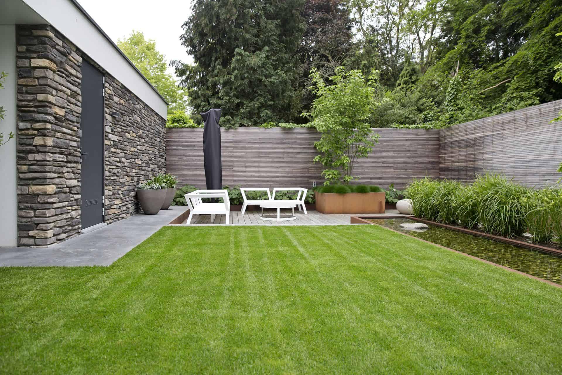tuin met beton