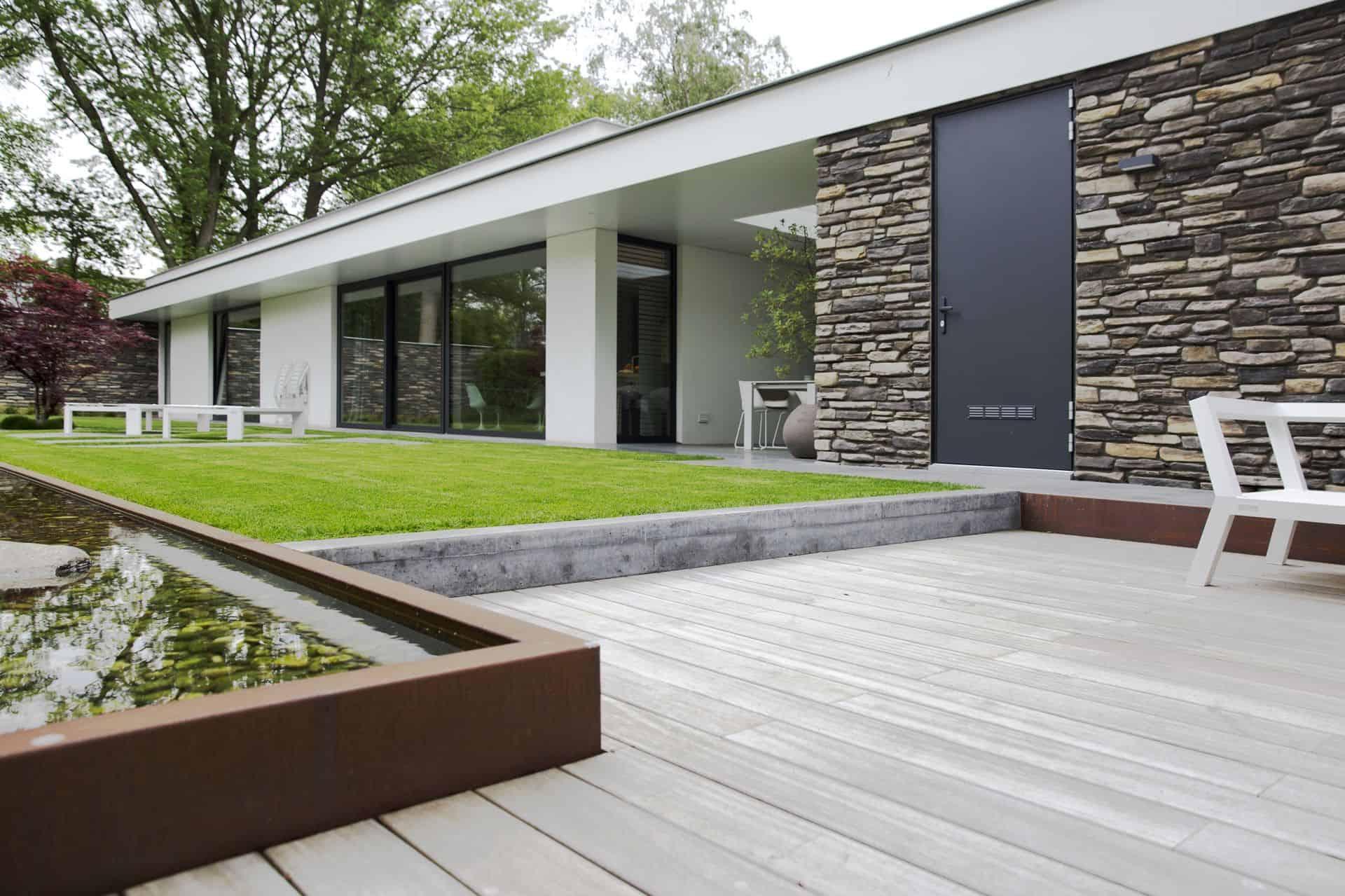 beton in de tuin