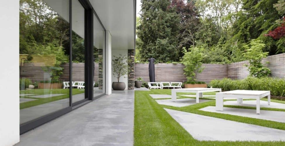 terras beton gevlinderd