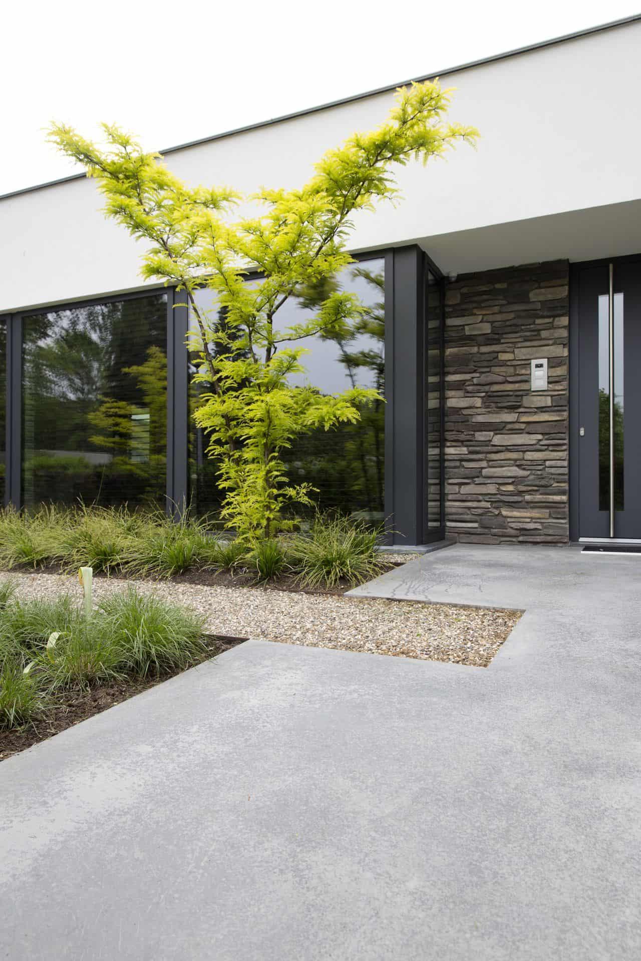 gevlinderde betonnen inrit, gevlinderd betonnen terras