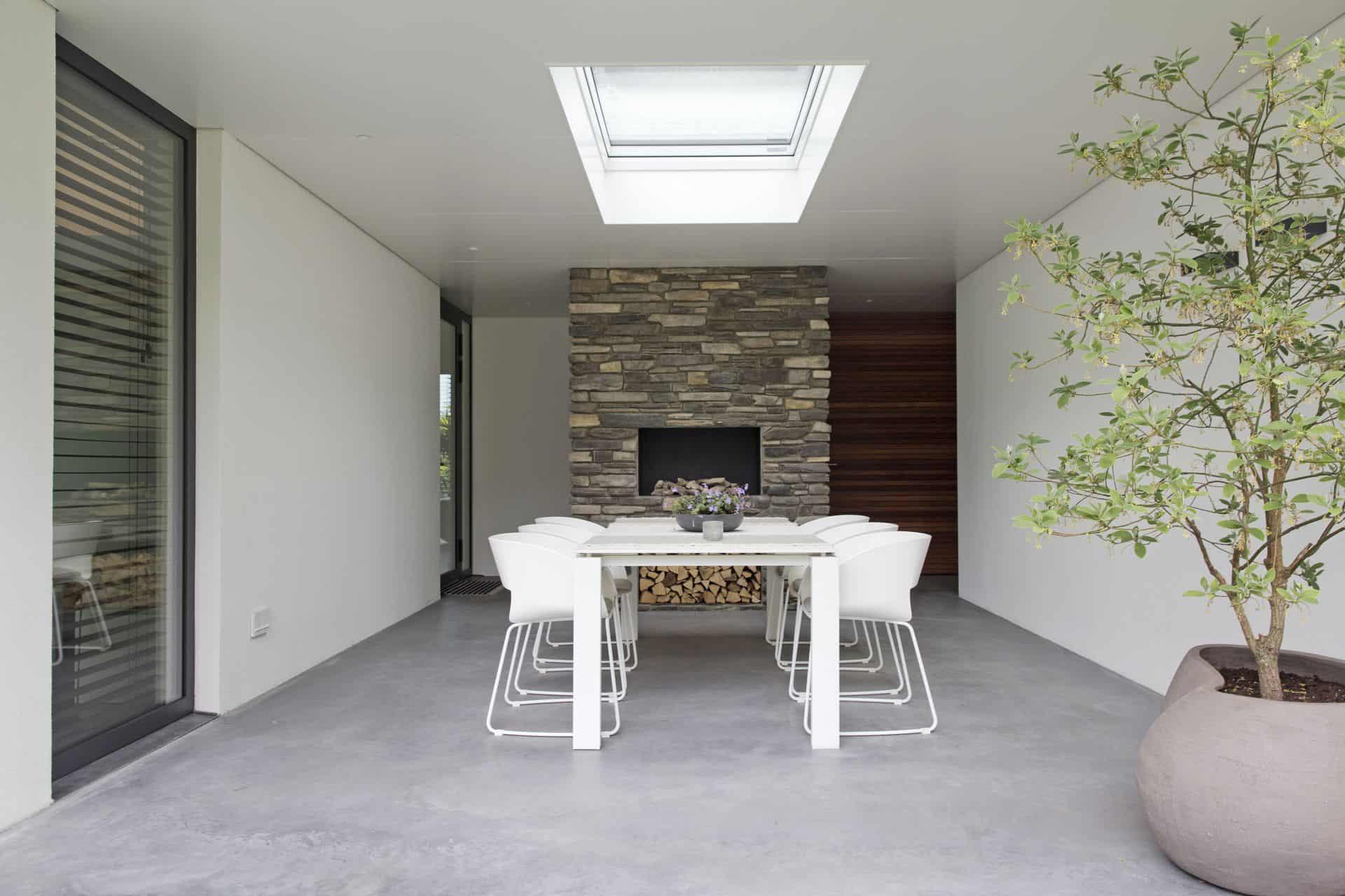 betonvloer buiten, beton terras