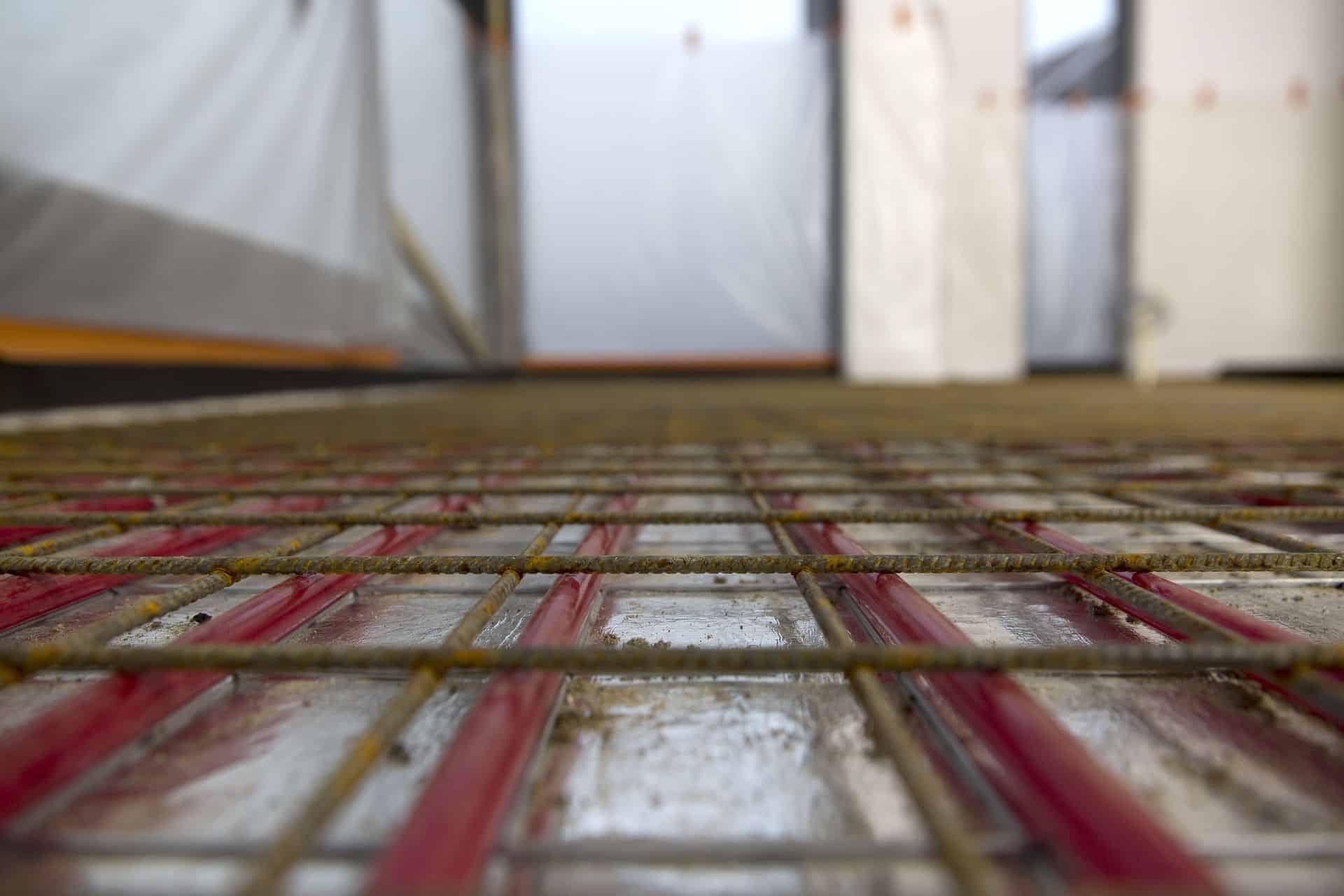 wapening betonvloer, woonbeton vloerverwarming