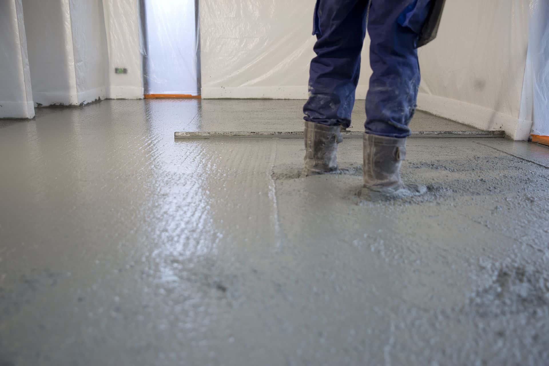 gevlinderde vloer, proces gevlinderde vloer