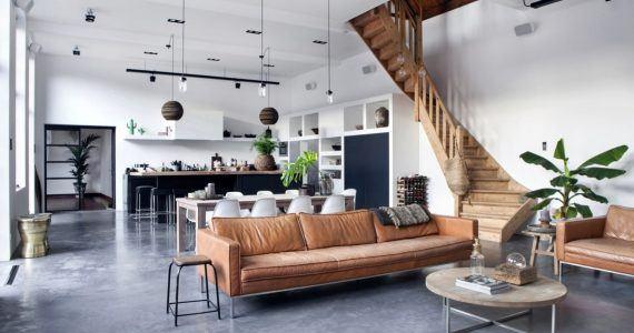 interieur met betonvloer