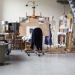 gevlinderde betonvloer atelier, atelier met betonvloer