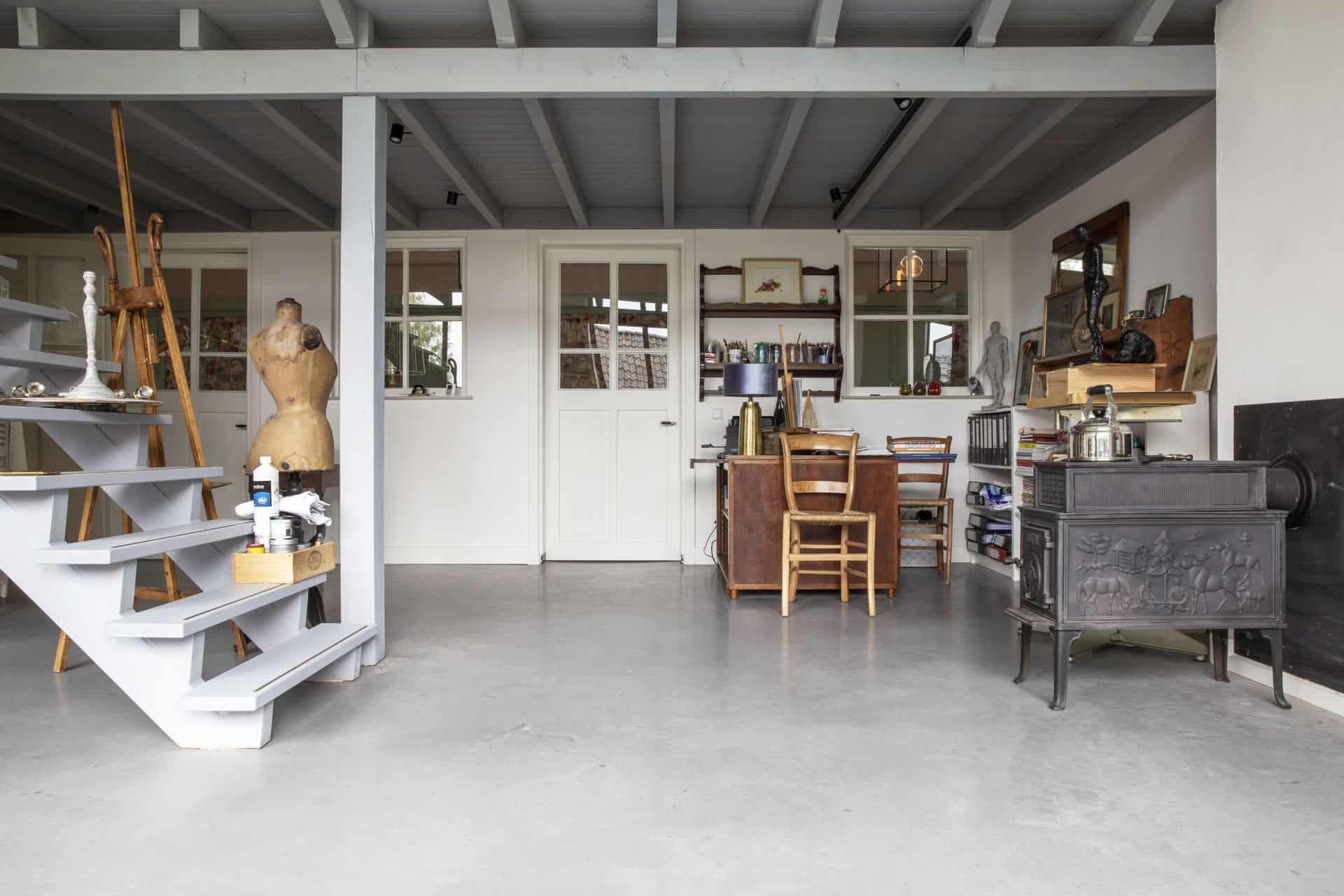 hoelang stucloper, gevlinderd woonbeton, betonvloer gevlinderd