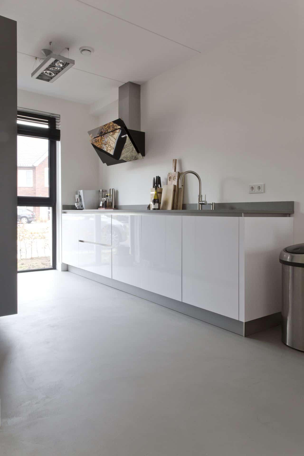 beton ciré, betonlook, betonlook vloer keuken