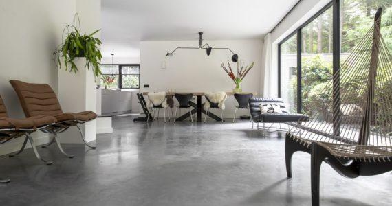 Design, scandinavisch, woonkamer, betonvloer Willem Designvloeren