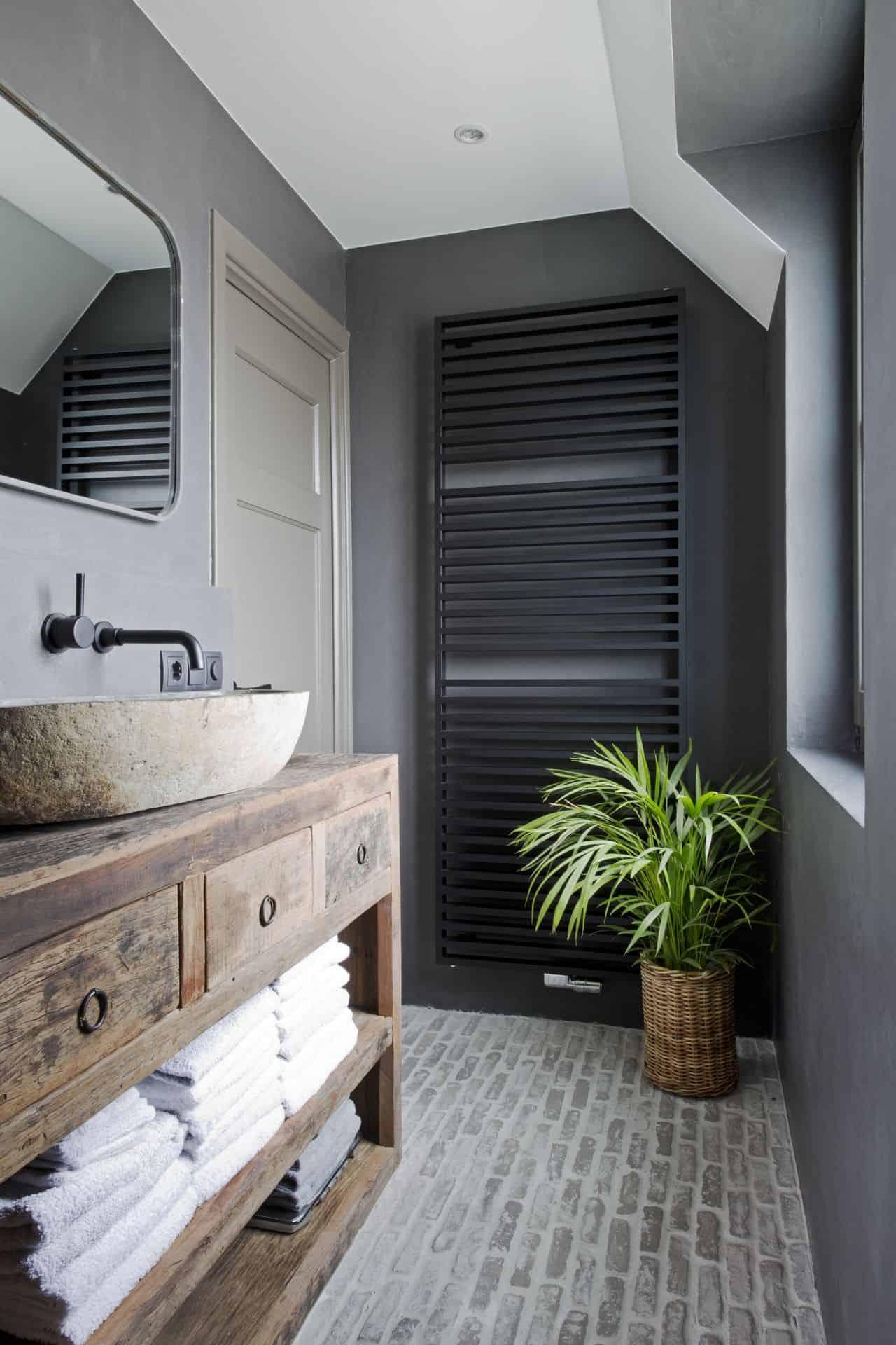 betonnen ciré muren, betonnen ciré muren in badkamer