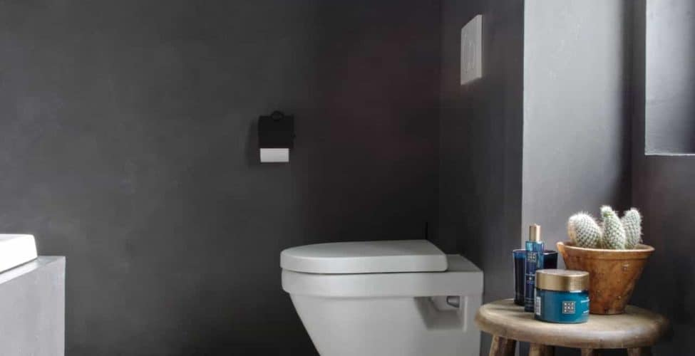foto beton ciré muren badkamer Willem Designvloeren