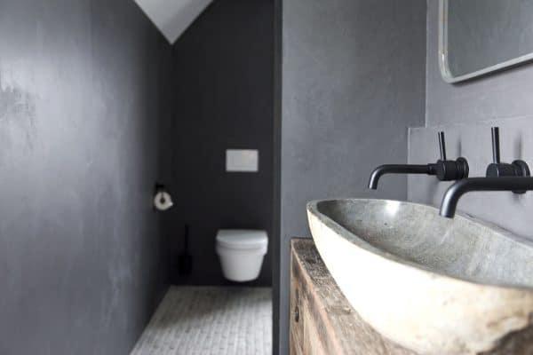 beton ciré badkamer, beton ciré muur