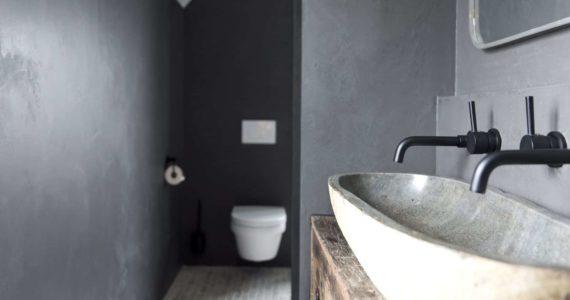 Betonlook stuc in de badkamer