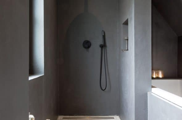 Beton ciré wanden in badkamer