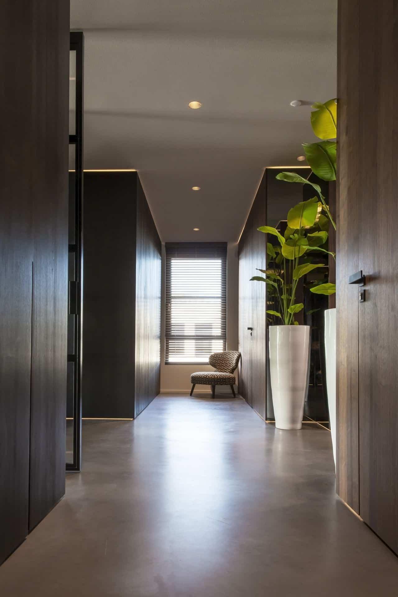 betonvloer reinigen, Gevlinderde woonbeton vloer