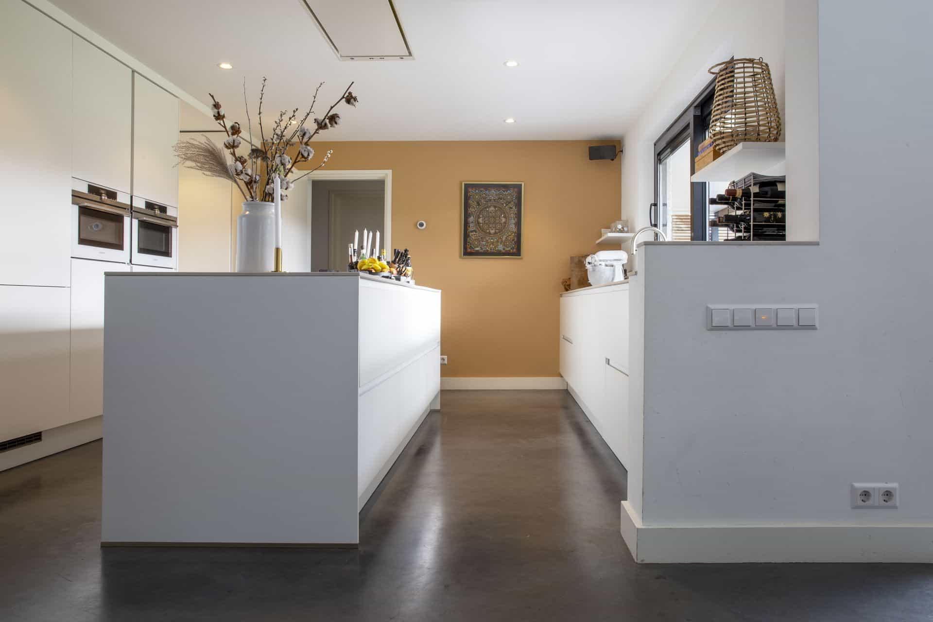 Gevlinderde betonvloer keuken
