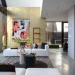 betonvloer in huis, gevlinderde betonvloer in huis, gevlinderd woonbeton in huis