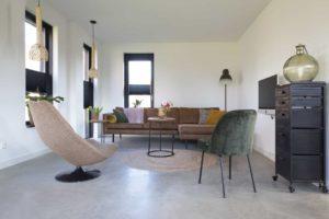 gevlinderde betonvloer woonkamer