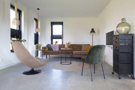 Gevlinderde woonbeton vloer in Hierden