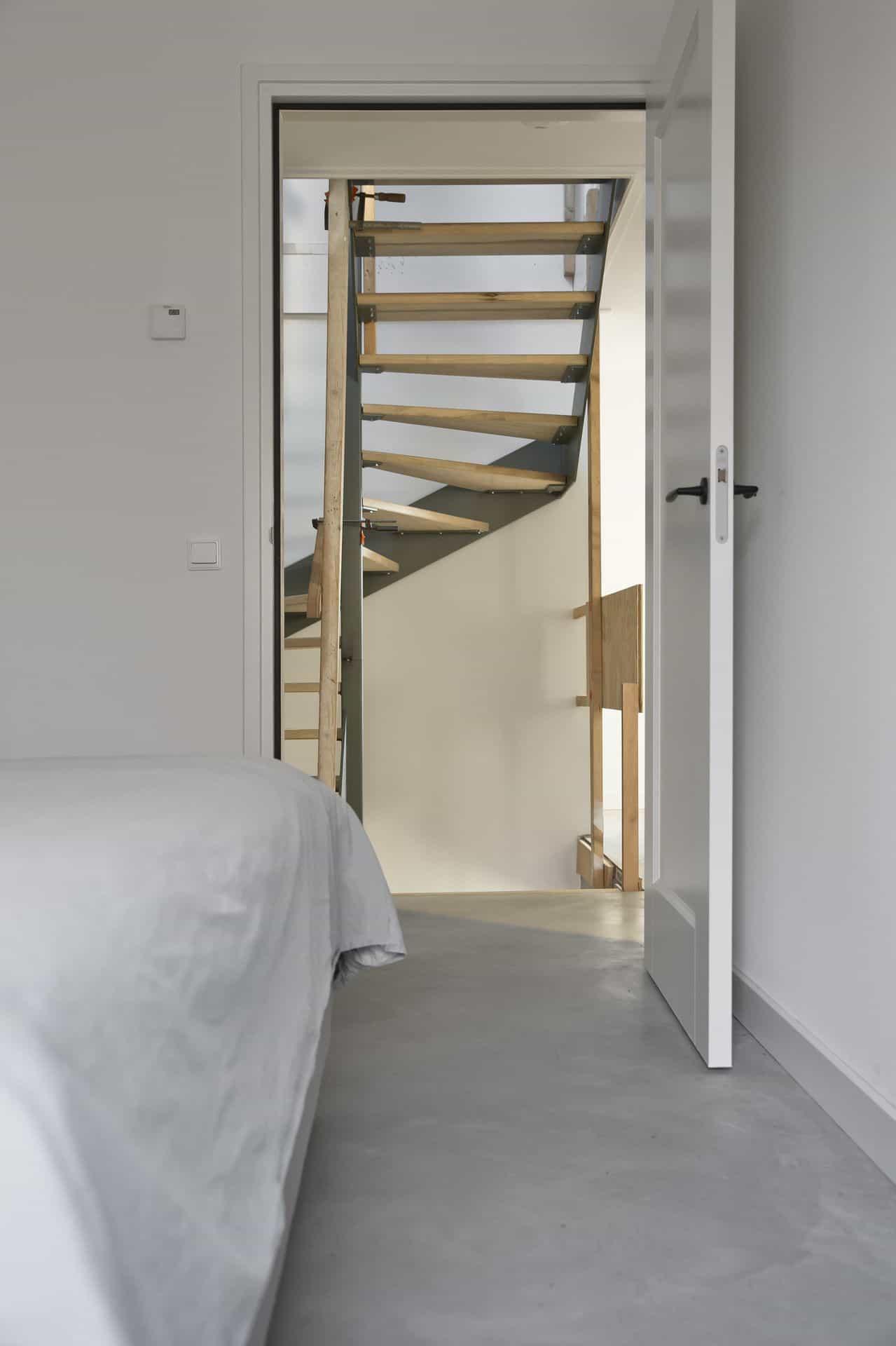 beton glad afwerken slaapkamer