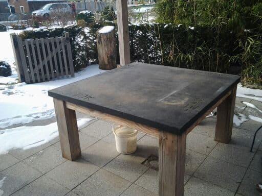 Betonnen tafel, betonnen tafels, betontafel
