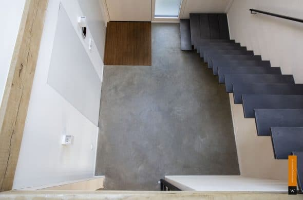 Gevlinderde woonbeton vloer
