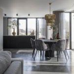 betonvloer keuken, woonbeton keuken, keukeninspiratie, zwarte keuken