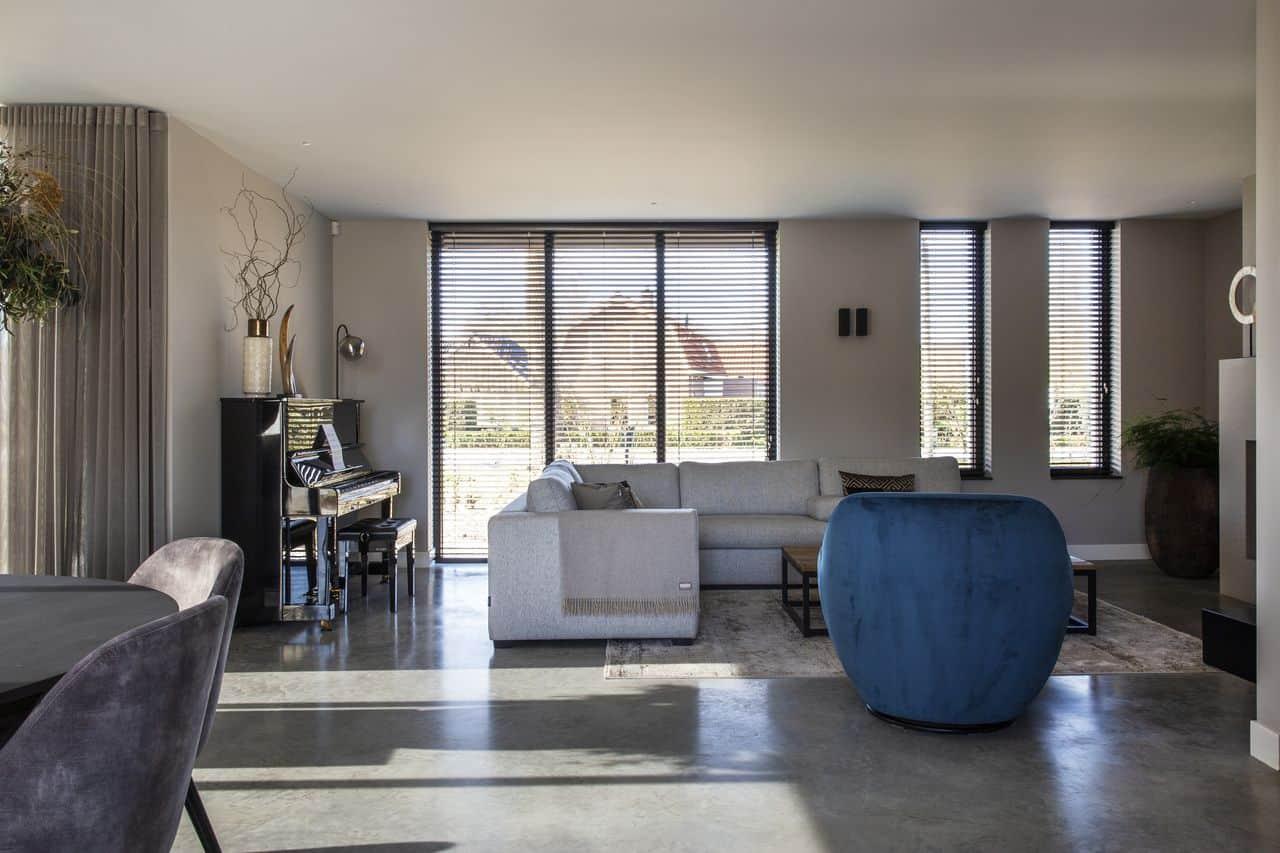 gevlinderde betonvloer, woonbeton, betonvloer, betonnen vloer